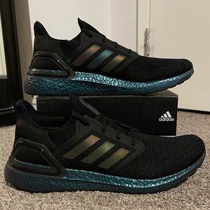 Mens Size 14 Adidas ULTRABOOST 20 Black/Met.Green